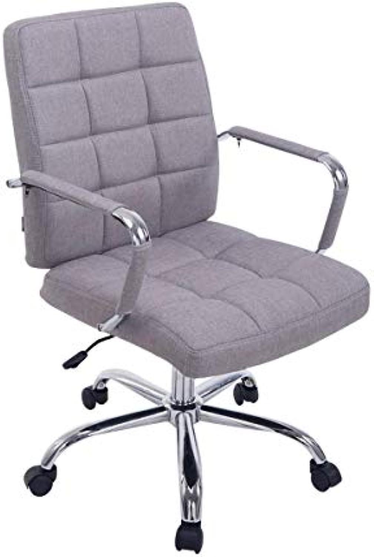 CLP Bürostuhl Deli PRO mit Stoffbezug I Schreibtischstuhl mit Metalldrehkreuz I Chefsessel mit Laufrollen I erhltlich Grau