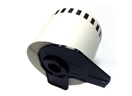 Eseller Direct®–100x Dk22205Compatible étiquettes d'adresse permanente pour Brother P-Touch QL 1050N thermique Rouleau de papier–62mm x 30.48m (100rouleaux avec support)
