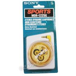 Sony Sports Water Resistant Stereo Dynamic Earphones (Model# MDR-E225G)