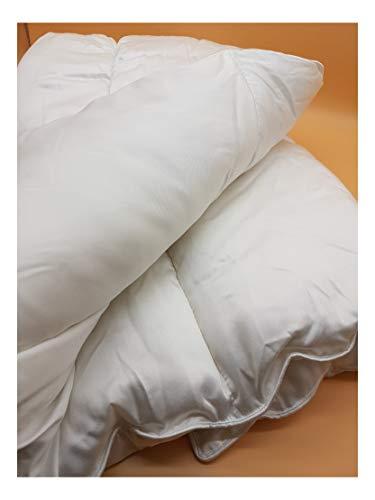 Couette en Bambou pour lit Double, Poids d'été, 100% Bambou, avec garnissage, antibactérien, hypoallergénique, antimicrobien, Douce, Luxueuse, 100% Bio