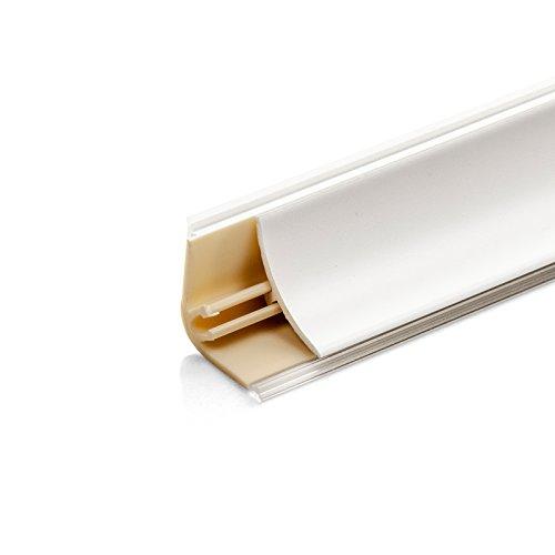 DQ-PP 3m WINKELLEISTE | Weiss matt | 13 x 13mm | PVC | Küchenleiste Arbeitsplatte Abschlussleiste Leiste Küche Küchenabschlussleiste Wandabschlussleiste Tischplattenleisten