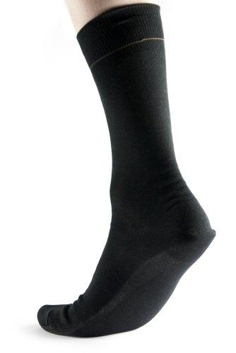 LINDNER Diabetiker Socke Silversoft textile protection Größe/Farbe: 39-40 / schwarz