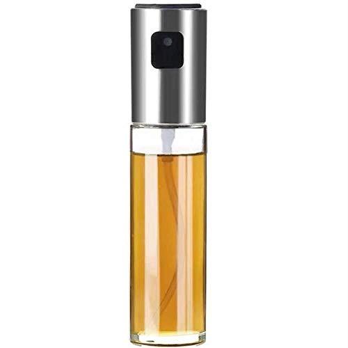 Aisahng 2 paquetes de botella de aceite de cocina de acero inoxidable en aerosol 100 ml - rociador de vinagre, rociador de aceite de oliva para cocinar, ensaladas, barbacoas, hornear en la cocina