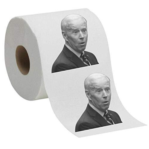 Joe Biden Toilet Paper, Funny Political Novelty Biden TP Gag Gift 2-Pack