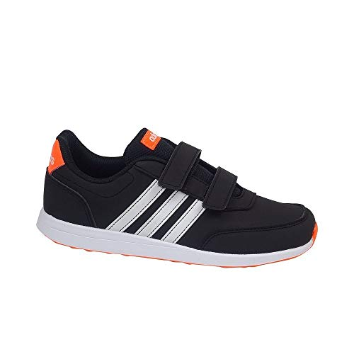 adidas Unisex-Kinder Vs Switch 2 Cmf Sneaker, Core Black/Footwear White/Solar Orange, 28 EU
