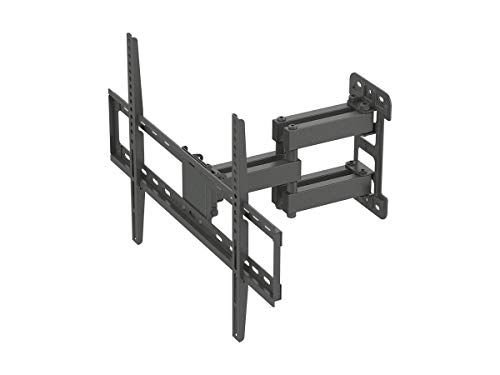 Monoprice Titan Series Full-Motion Articulating TV Wall Mount Bracket - for TVs Up to 70in Max Weight 99lbs VESA Patterns Up to 600x400 Rotating Black