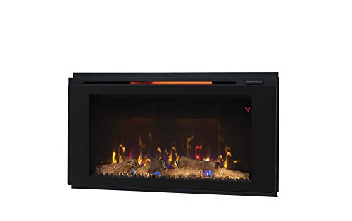 """Classic Flame 36HF320FGT Helen 36"""", Black Wall Mounted Electric Fireplace"""