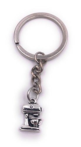 H-Customs Küchenmaschine Mixer Schlüsselanhänger Anhänger Silber aus Metall