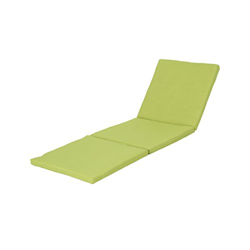Christopher Knight Home Jamaica Outdoor Water Resistant Chaise Lounge Cushion, Green