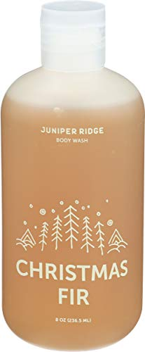 Juniper Ridge Christmas Fir Body Wash - Concentrated Organic Vegan Soap - All Natural Ingredient Essential Oil Bath Gel - Paraben Phthalate, Dye, Cruelty, and Perservative Free - 8oz Bottle