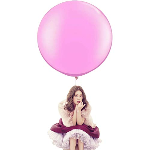 36 Inch Big Round Balloons 5 Pack Thick Giant Balloons for...