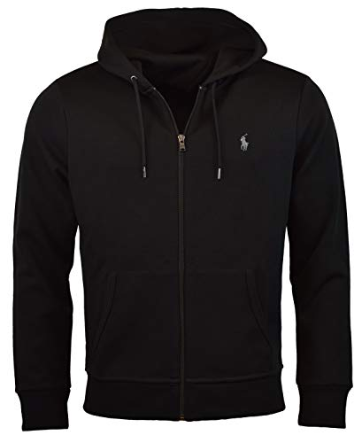 Polo Ralph Lauren Men's Double-Knit Full-Zip Hoodie, L, Polo Black