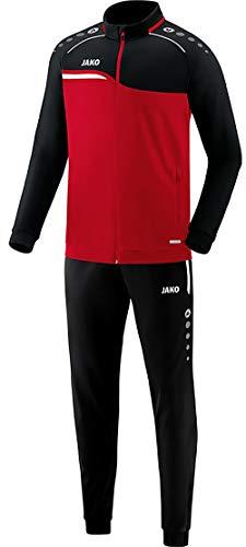 JAKO Herren Competition 2.0 Trainingsanzug Polyester, rot/Schwarz, XL