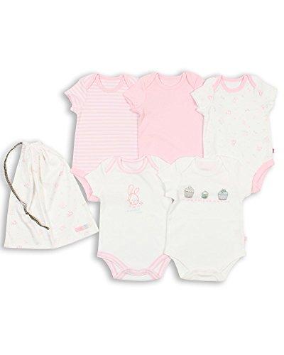 The Essential One - Paquete de 5 Body Bodies para bebé niñas ESS93