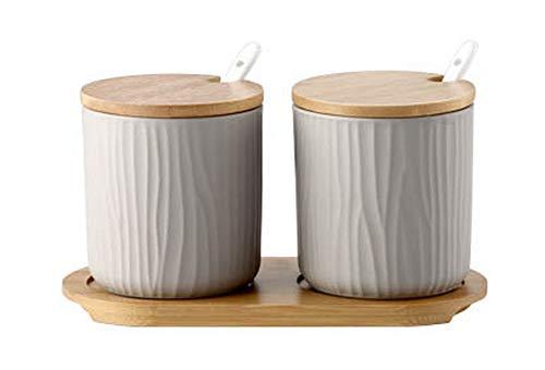Koala Superstore Giapponese Creative Porcelain Condiment Jar Household Oil Chili Spice Jar, Gray