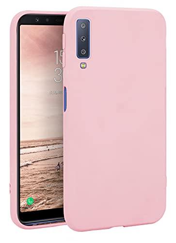 MyGadget Silikon Hülle für Samsung Galaxy A7 2018 - robuste Schutzhülle TPU Hülle Slim Silikonhülle Back Cover Ultra Kratzfest Handyhülle in Rosa