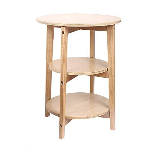 GaoXu Klapptisch HAKN Kleiner Beistelltisch, Magazin-Beistelltisch rundes Bett Kleiner Beistelltisch mit Ablageboden 3-lagig Tragbarer Tisch (Farbe : A, größe : 45.5 * 62.5cm)