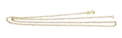 Hobra-Gold Erbskette Gold 585 Halskette glänzende Goldkette 14 Karat Collier 45 cm/50 cm (50)