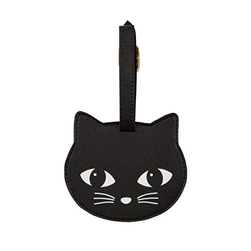 Sass & Belle Black Cat Luggage Tag