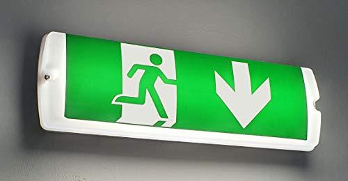 Notleuchte LED IP65 Notbeleuchtung Rettungszeichenleuchte Fluchtwegleuchte Notlicht Brandschutzzeichen Rettungszeichen