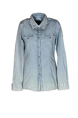 DONDUP Camicia Jeans Denim di Cotone (44 Donna)