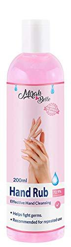 Mirah Belle - Rose Hand Sanitizer Gel - (200 ml) - Natural, Vegan, Herbal - Best for Men, Women and Children - (Pack of 1)