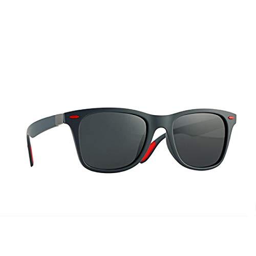 NJJX Gafas De Sol Polarizadas Hombres Mujeres Conducción Cuadrada Revestimiento Espejo Transparente