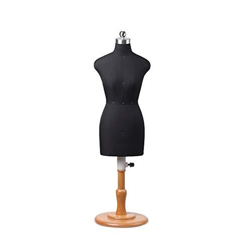 LILIS Maniqui Costura Pequeño modistas maniquí Famale, Negro 1: 2 Escala de Altura Ajustable, Mini Forma del Vestido de la muñeca a Medida maniquíes de visualización Decoración (Size : 1/2)