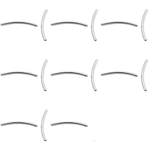 Sadingo Tubos de metal (15 unidades plateadas de 35 x 2,5 mm)