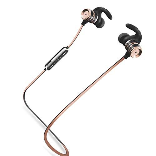 Wsaman Auriculares Impermeable, Auricular Bluetooth con Cancelación Activa de Ruido para Deportes, Oficina en Casa Trabajo, Auriculares Inalambricos Deportes,Oro