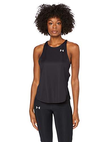 Under Armour UA Speed Stride Tank Camiseta De Tirantes, Camiseta Para Correr Mujer Negro MD