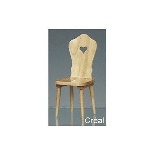 Creal 30820 Miniatur Küchenstuhl Stuhl natur Holz 1:12 für Puppenhaus