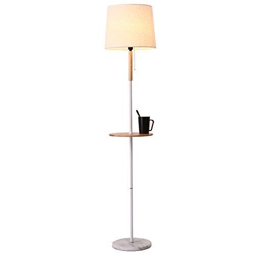 Lampadaire moderne salon chambre personnalité chevet table verticale lampe table basse lampes (Couleur : Blanc)