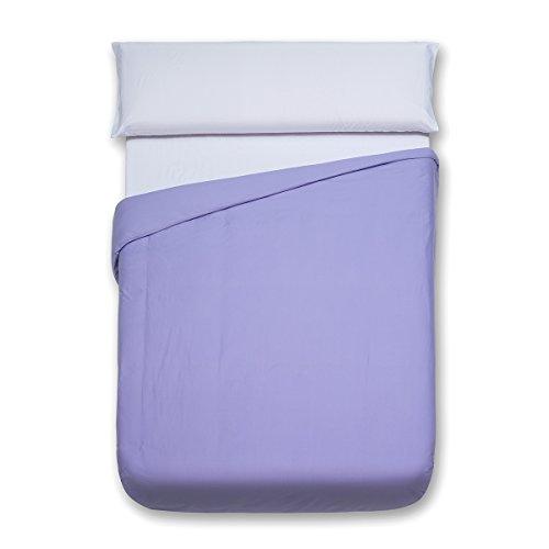 Sancarlos - Funda nórdica lisa, 100% Algodón, Color lila, Cama de 90 cm