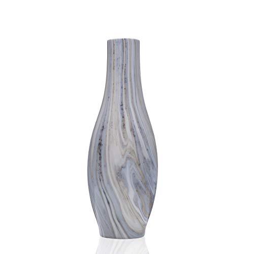 Scott Living Oasis Marble Swirl Glass Vase, 13 inch