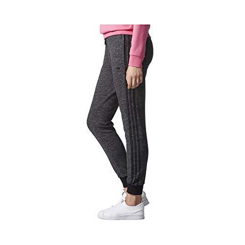 adidas Damen Regular Cuffed Trainingshose, Dark Grey Heather, 42