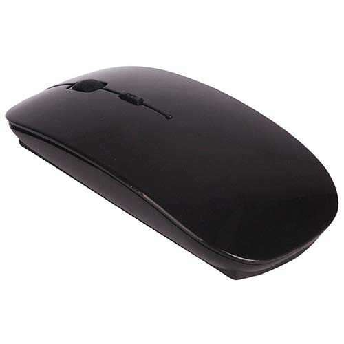 LINASHI Wireless Mouse, 2.4 GHz Slim Optical Wireless Mouse Mice Compatible with MacBook Compatible with Laptop PC Black