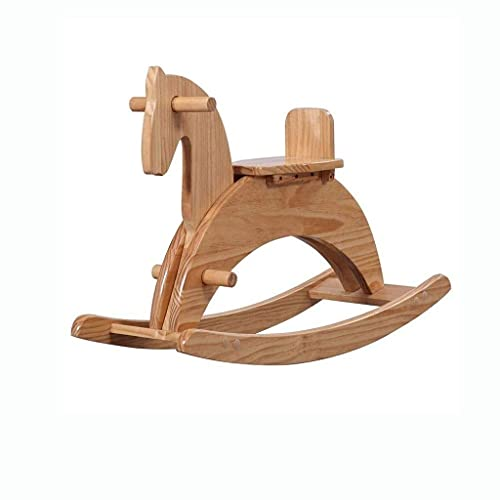 HGJINFANF First-class workmanship brings different fun to yo Wooden Rocking Horse, Small Wooden Horse Suitable for Children, Indoor and Outdoor Infants Ride Rocking Animals