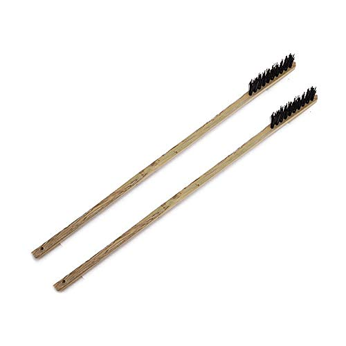 DAYOLY 2 cepillos de limpieza para jaula de pájaros con mango largo de bambú para mascotas, suministros de limpieza necesarios para periquitos, periquitos, jaula de pájaros pequeños