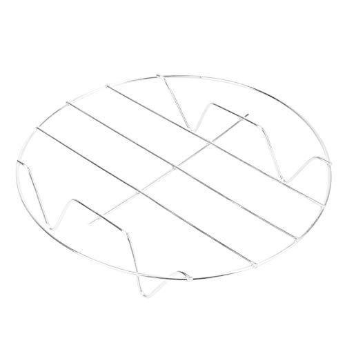DOITOOL - Soporte de acero inoxidable redondo para cocinar al vapor para hornear a la parrilla (plateado)