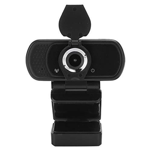 cigemay Webcam 1080P Full HD Stereo Micrófono, con micrófono Mini trípode para transmisión de videoconferencia en Vivo, para PC/Laptop/Mac/Desktop/Macbook/Tablet, para Windows 7/8/10