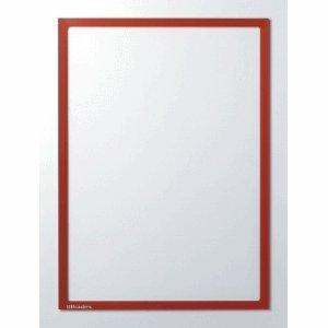 Ultradex Infotasche mit Ausschnitt A4 hoch BxH 225x312mm selbstklebend VE=5 Stück rot
