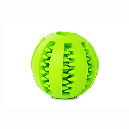 Jouet à mâcher pour chien, jouet en caoutchouc non toxique et résistant à la morsure pour le traitement des dents, jouet de nettoyage des dents pour la formation des chiots (vert) / diamètre 5 cm