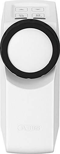 ABUS HomeTec Pro Funk-Türschlossantrieb CFA3000 - Elektrisches Türschloss zum schlüssellosen Öffnen auf Knopfdruck oder per Codeeingabe - für bestehende Zylinder - Weiß - 10123