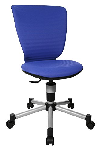 Topstar Titan Junior 3D, mitwachsender Kinderdrehstuhl, Schreibtischstuhl für Kinder & Jugendlinche, Stoff, blau, 45 x 45 x 100 cm