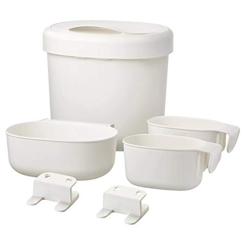 Digital Shoppy IKEA Baby Nappy Changing Table Accessories Set of 4, White