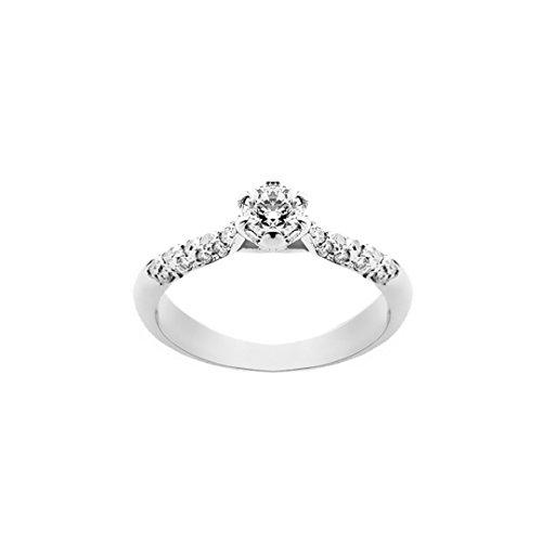 Grama & Mounier Anillo de oro blanco 18kt. con diamantes de 0.50ct. COD. gm029 Oro bianco