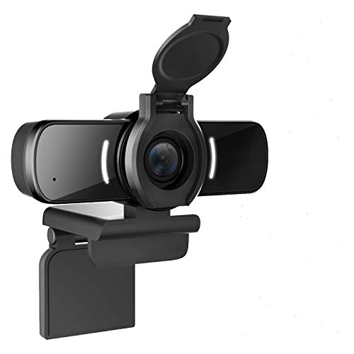 LarmTek Webcam mit Mikrofon,Pc Kamera mit Webcam-Abdeckung,1080p Webcam für Live-Streaming-Spiele...