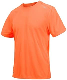 Mens Saucony Hydramax Short Sleeve, Vizipro/Bright Orange , XL