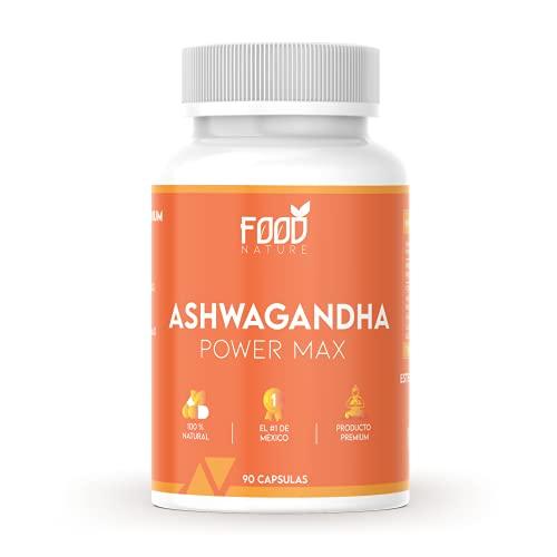 Ashwagandha | Suplemento Alimenticio Premium 100% Natural | 90 Cápsulas de .500 mg para 30 Días | El #1 de México | Ashwagandha Power Max | Foodnature